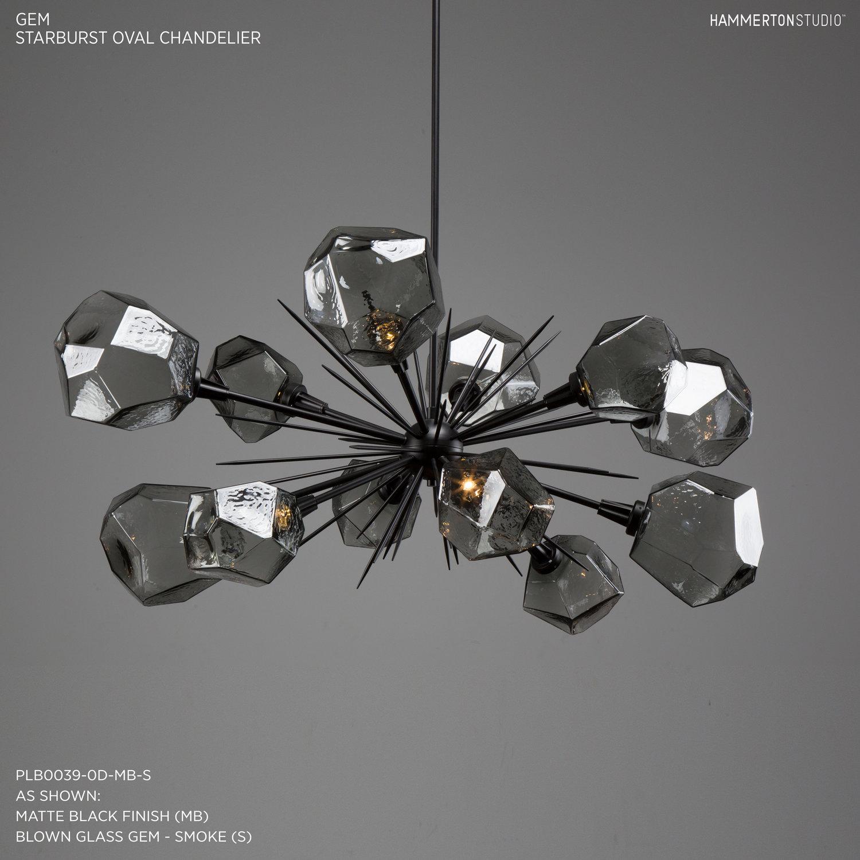 Gem Oval Starburst Chandelier 48 PLB0039 0D