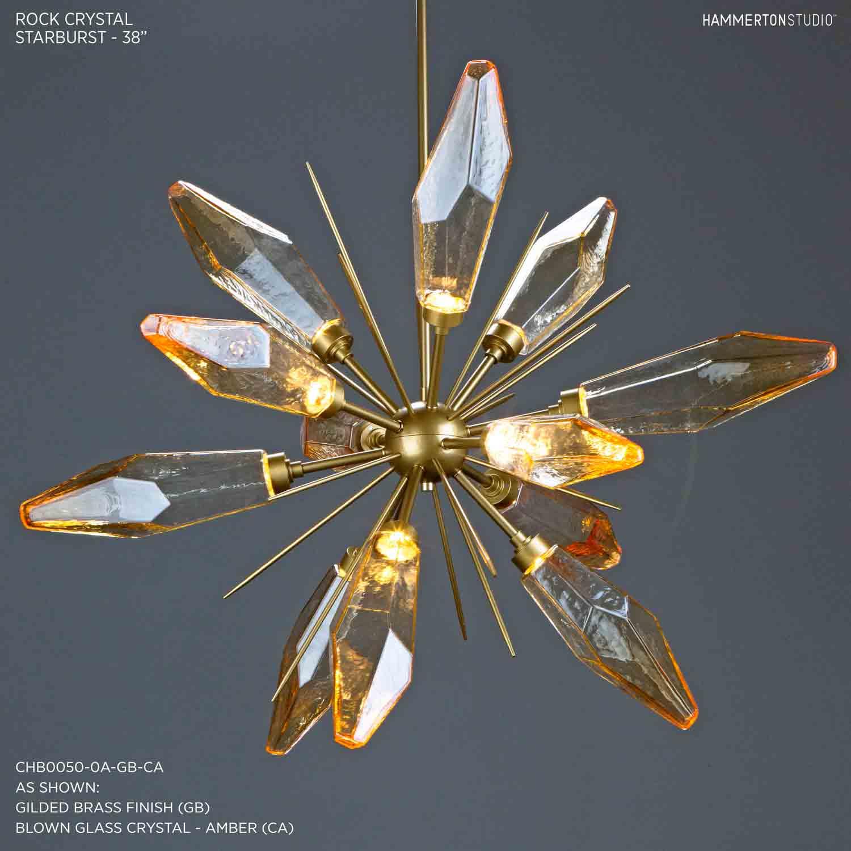 Rock Crystal Starburst Chandelier 38 CHB0050 0A