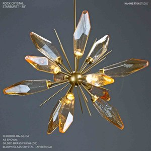 Rock Crystal Starburst Chandelier 38 CHB0050 0A
