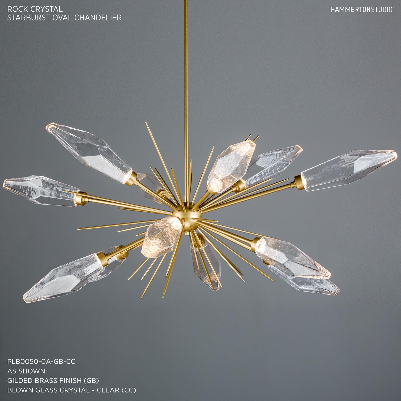 Rock Crystal Oval Starburst Chandelier PLB0050 0A