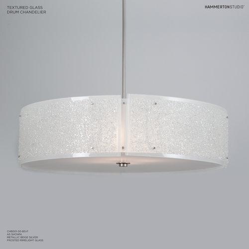 Textured glass 30d drum chandelier chb0044 30