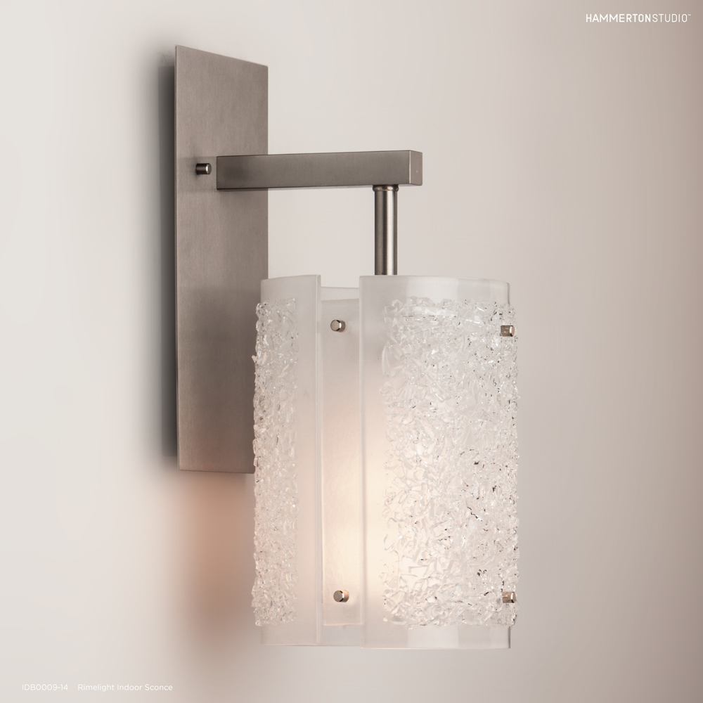 Textured Glass Wall Sconce IDB0044 14