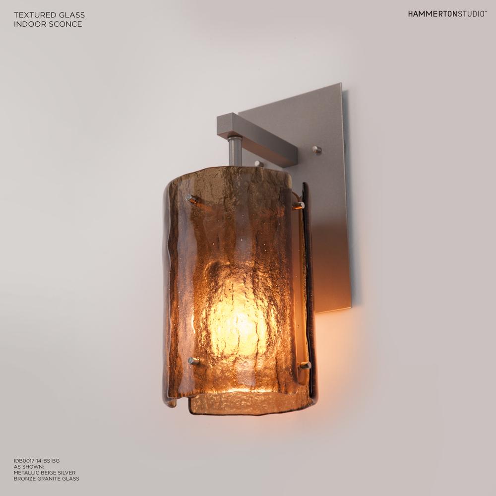 Textured Glass Wall Sconce IDB0044 14