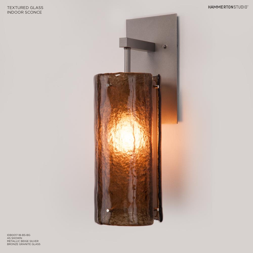 Textured Glass Wall Sconce IDB0044 18
