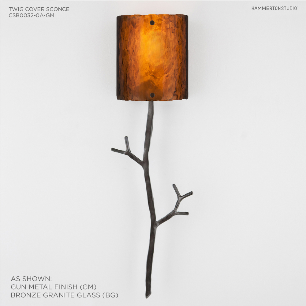 Ironwood Twig Cover Sconce CSB0032 0A Glass u2014