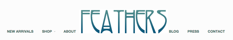 "http://feathersboutiquevintage.com  ""like this logo font"" - Caitlin"