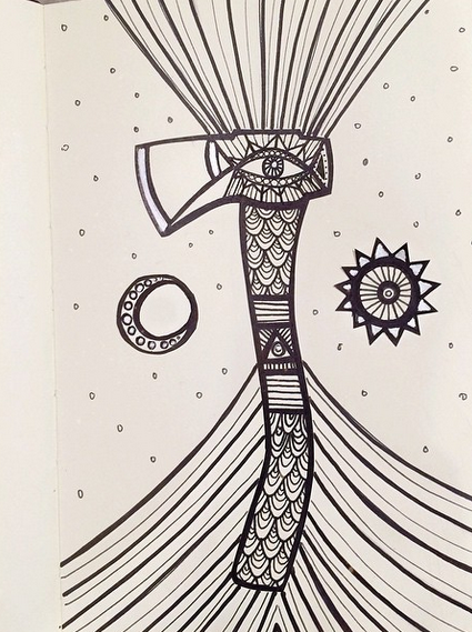 "http://instagram.com/axandapple ""this chick has some cool doodles"" - Caitlin"