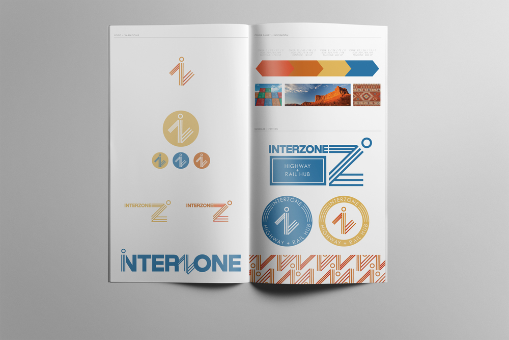 Interzone branding outline   Brochure describing branding outlines for Interzone, Inc.