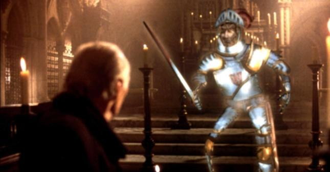 Stained Glass Knight from Young Sherlock Holmes.