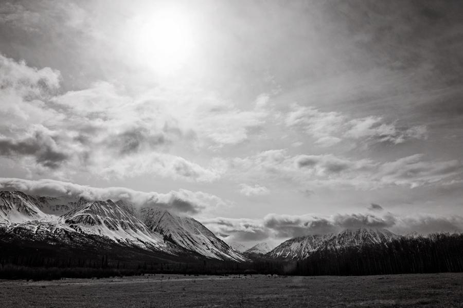 The road to Alaska. Stewart-Cassiar Highway.