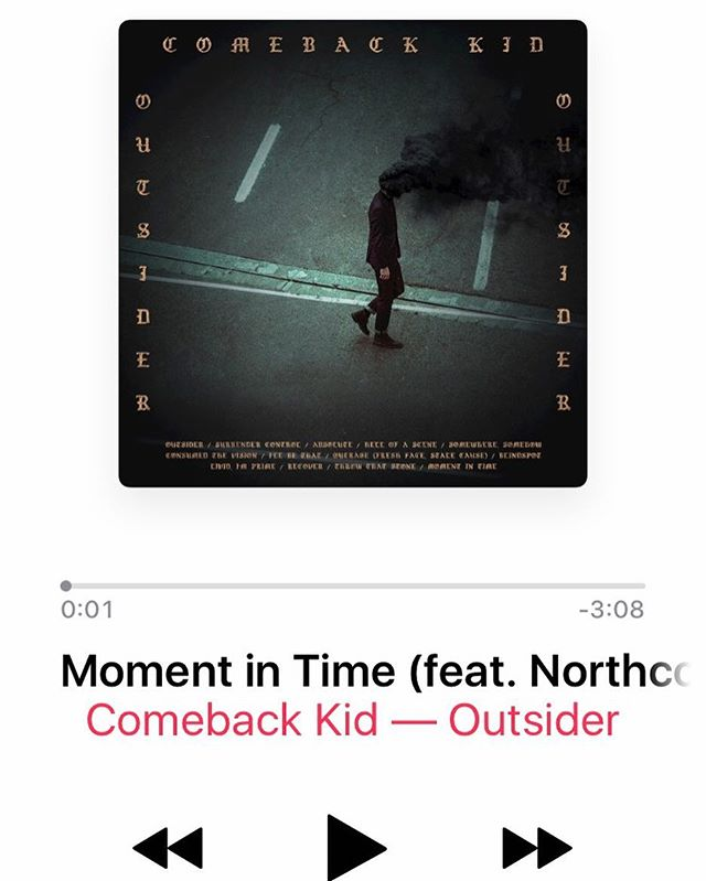 Check out the new @comebackkid_hc album The Outsider. Honoured to be feat. on the album closer Moment in Time. Thanks to CBK for the music and the invitation.