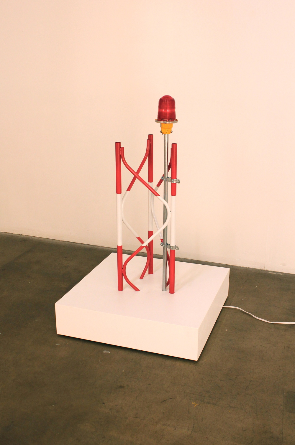 Beacon. 2013. Welded and painted steel, obstruction lamp, electrical components, controller chip.