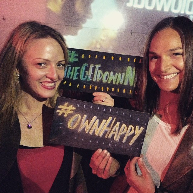 @annejkoller and @meghangodin #ownhappy long time. Meghan's first #thegetdownnyc!!!