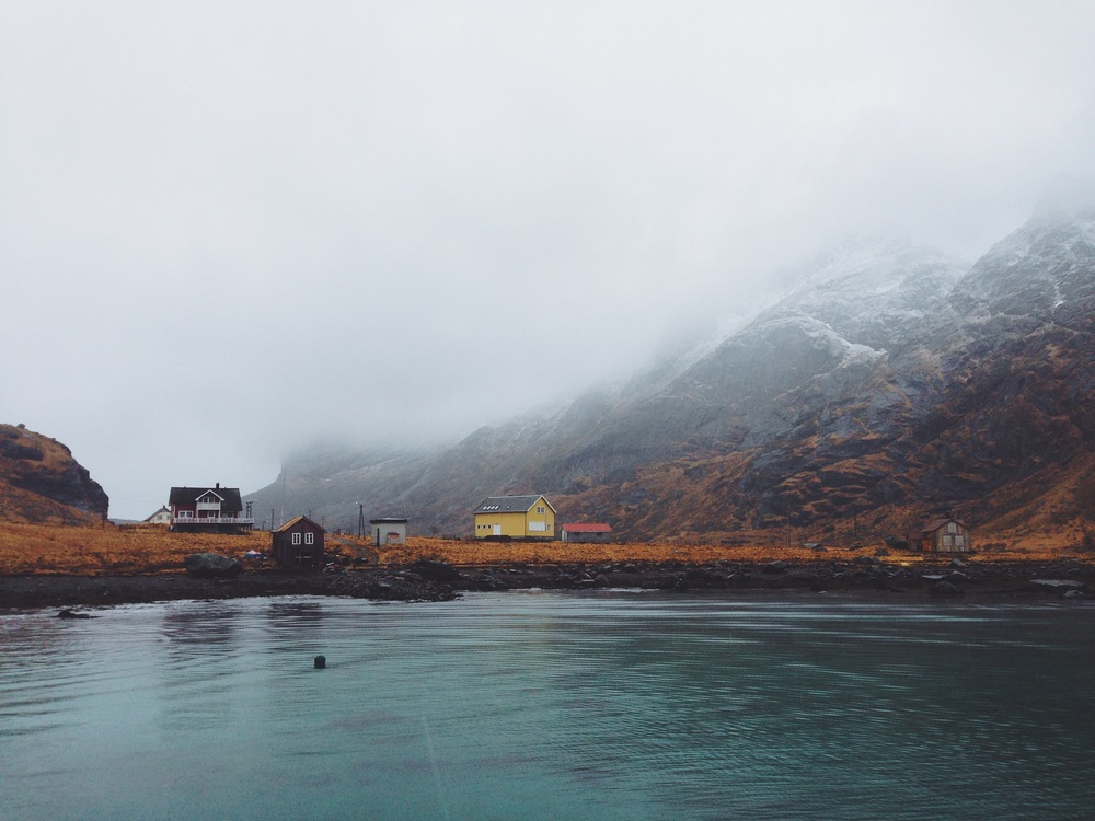 """Little House on the Fjord""    Lofoten Islands, Norway 