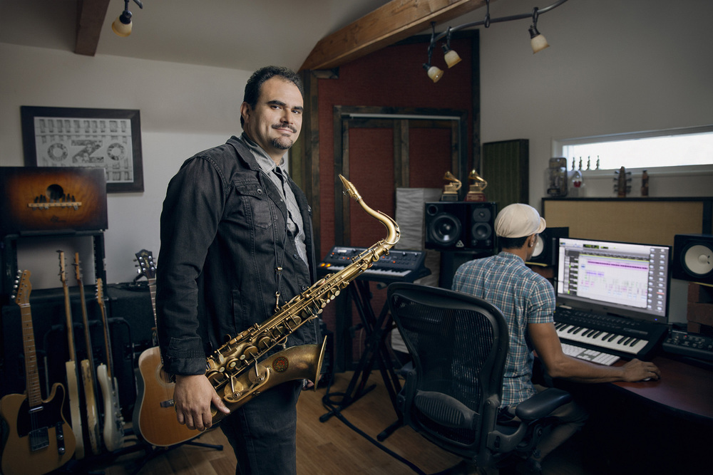 Ulises Bella - Saxophone player in the band Ozomatli