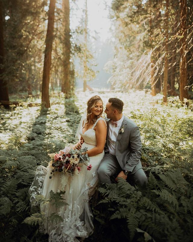 Lauren & PJ, married yesterday in the woods 💚  #solemates2018
