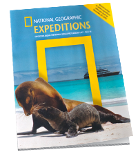 Cover of National Geographic Expeditions catalog.