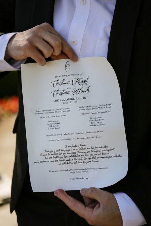 scroll wedding program
