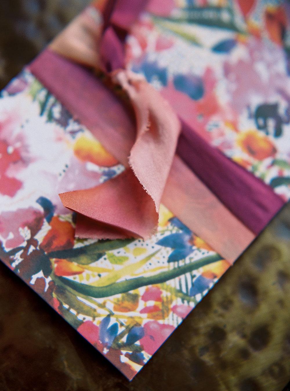 Vibrant Floral Invitation