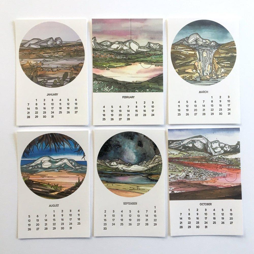 2018 Sleeping Giants Calendar with Andrea Durfee