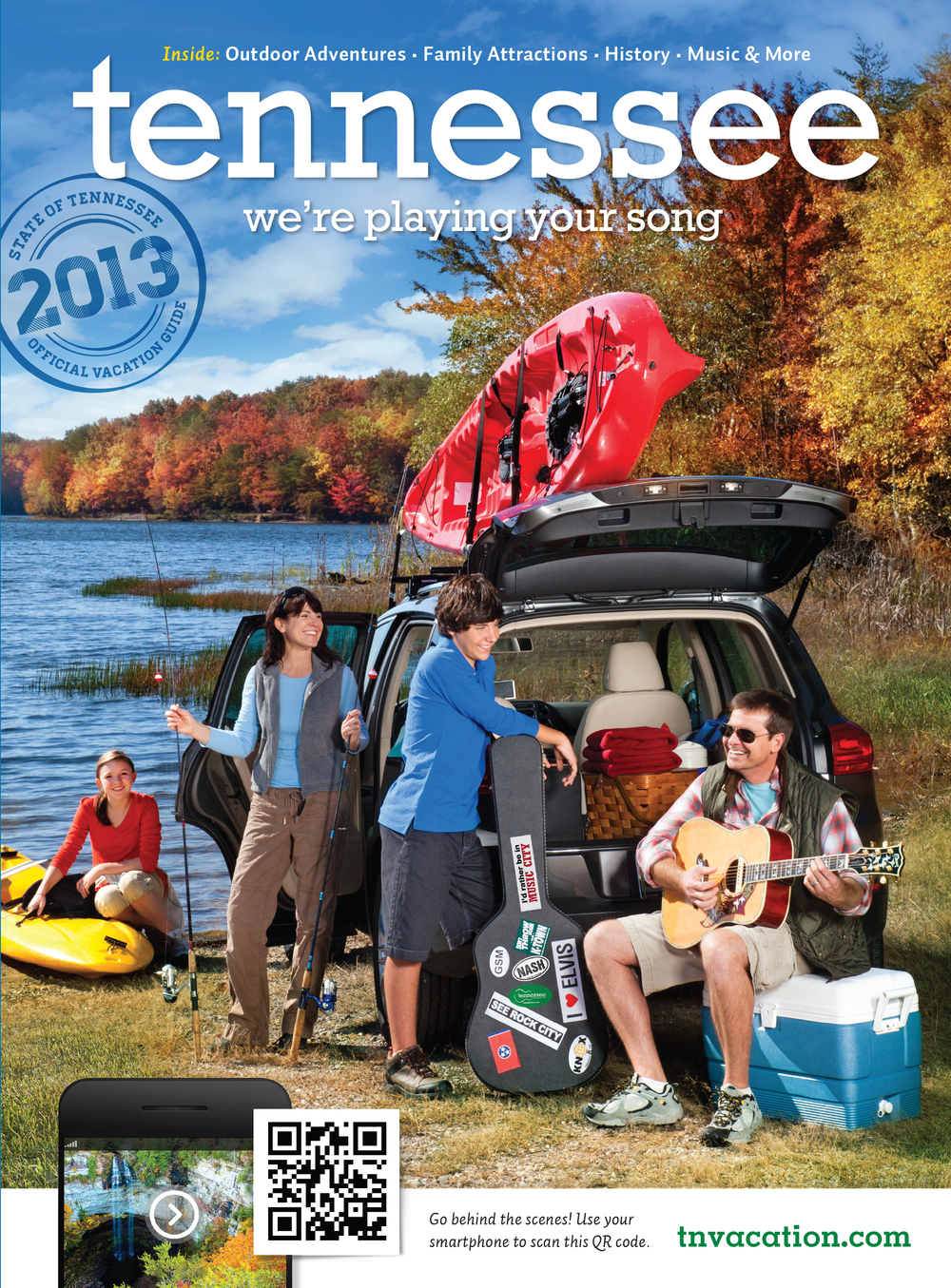 The finished Vacation Guide cover for 2013. Shot at Fall Creek Falls State Park in middle Tennessee.