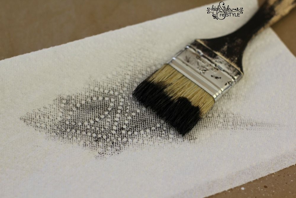 Blot off excess stain onto paper towel or cloth.