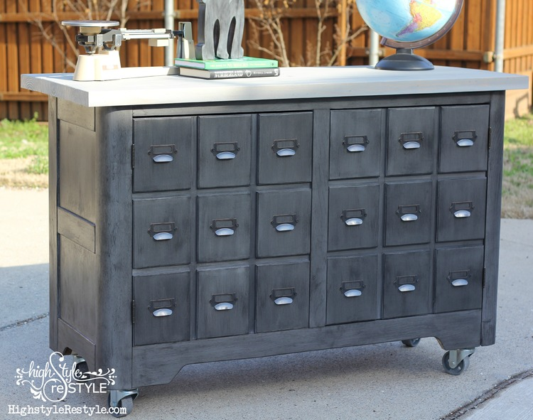 DIY Industrial Apothecary Cart  Highstyle ReStyle