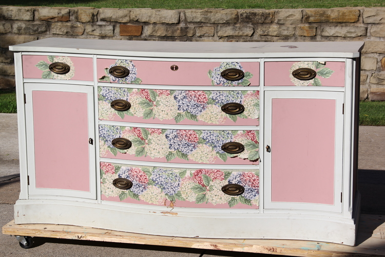 how to wallpaper furniture. The Bones Of Buffet Are Amazing But Outdated Paint And Wallpaper Needed To Go Stat. Seriously, 80\u0027s Called Wanted That Back. How Furniture