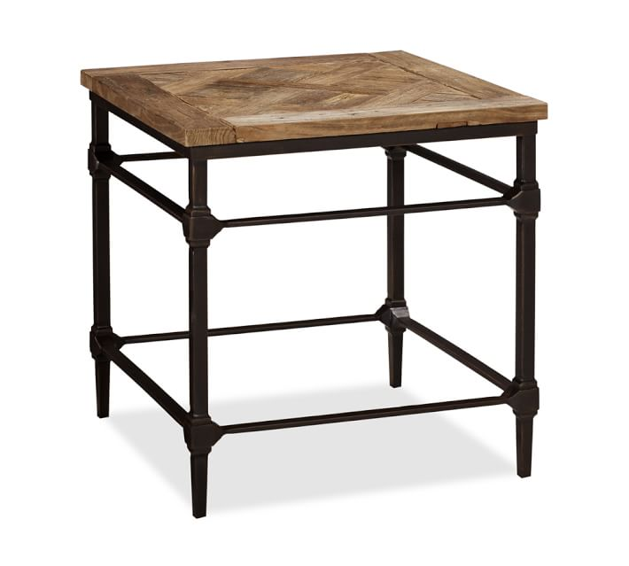 INSPIRATION: POTTERY BARN PARQUET RECLAIMED WOOD SIDE TABLE