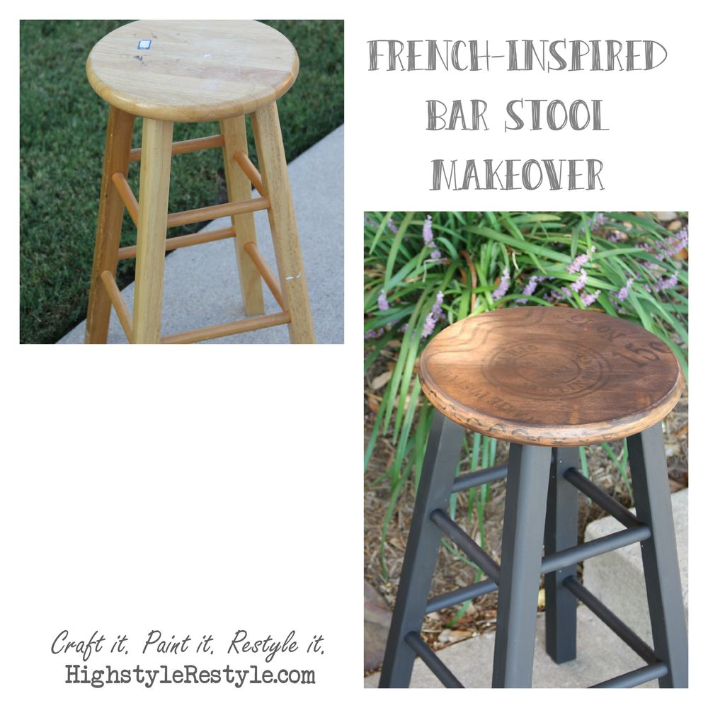 Home Styles Arts Crafts 24 In Counter Stool: French-Inspired Bar Stool Makeover