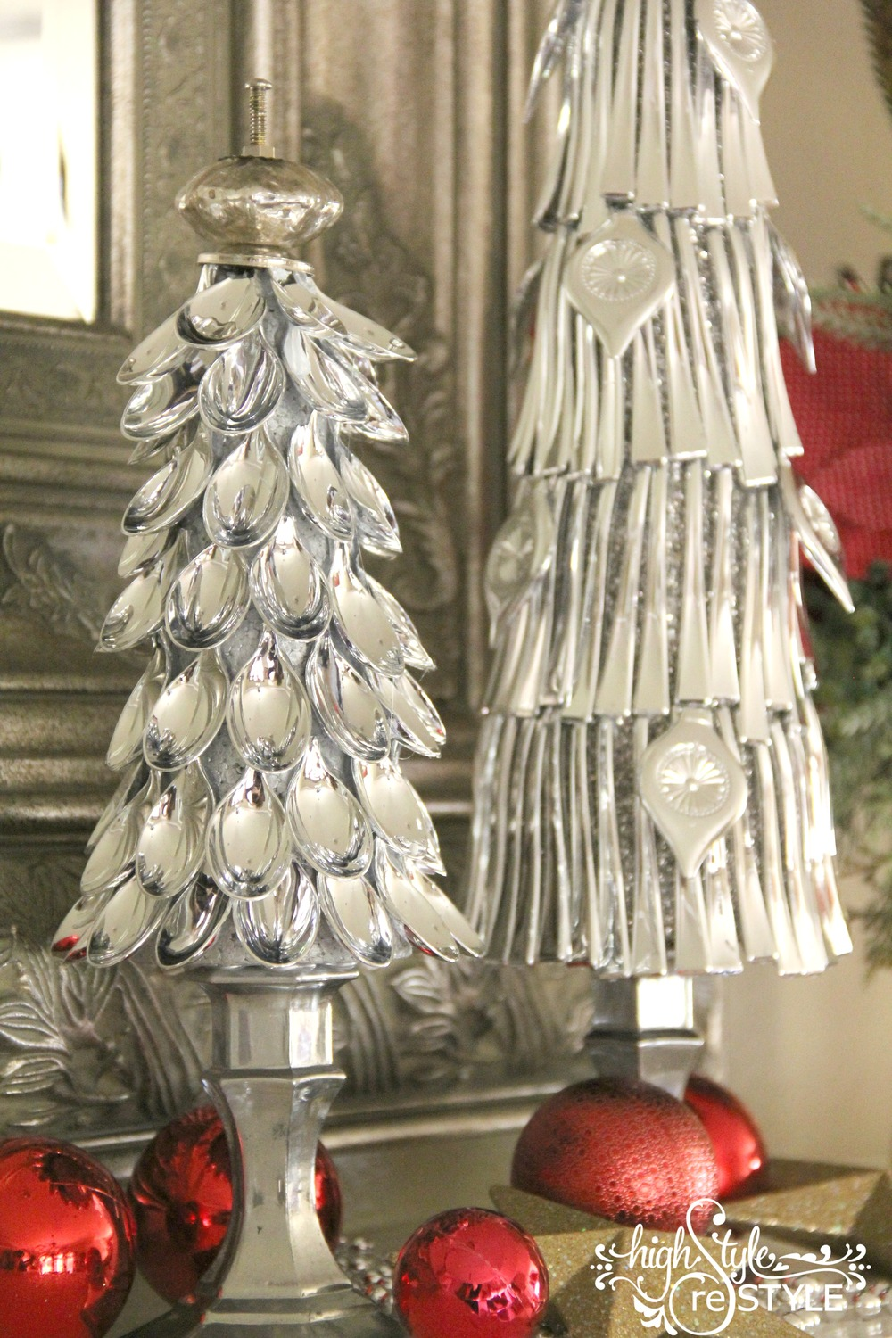 Dollar Store Silver Spoon Christmas Trees Highstyle Restyle