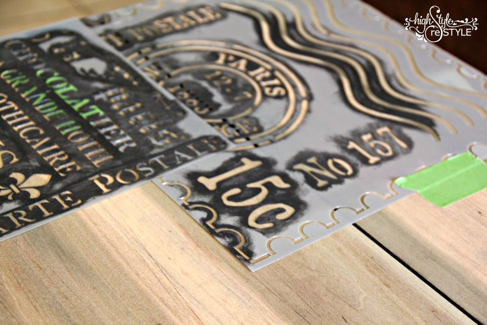 Poplar wood desk top with stencil.jpg