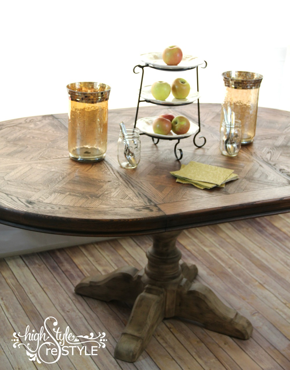 Restoration Hardware Inspired Pedestal Table Makeover U2014 Highstyle ReStyle