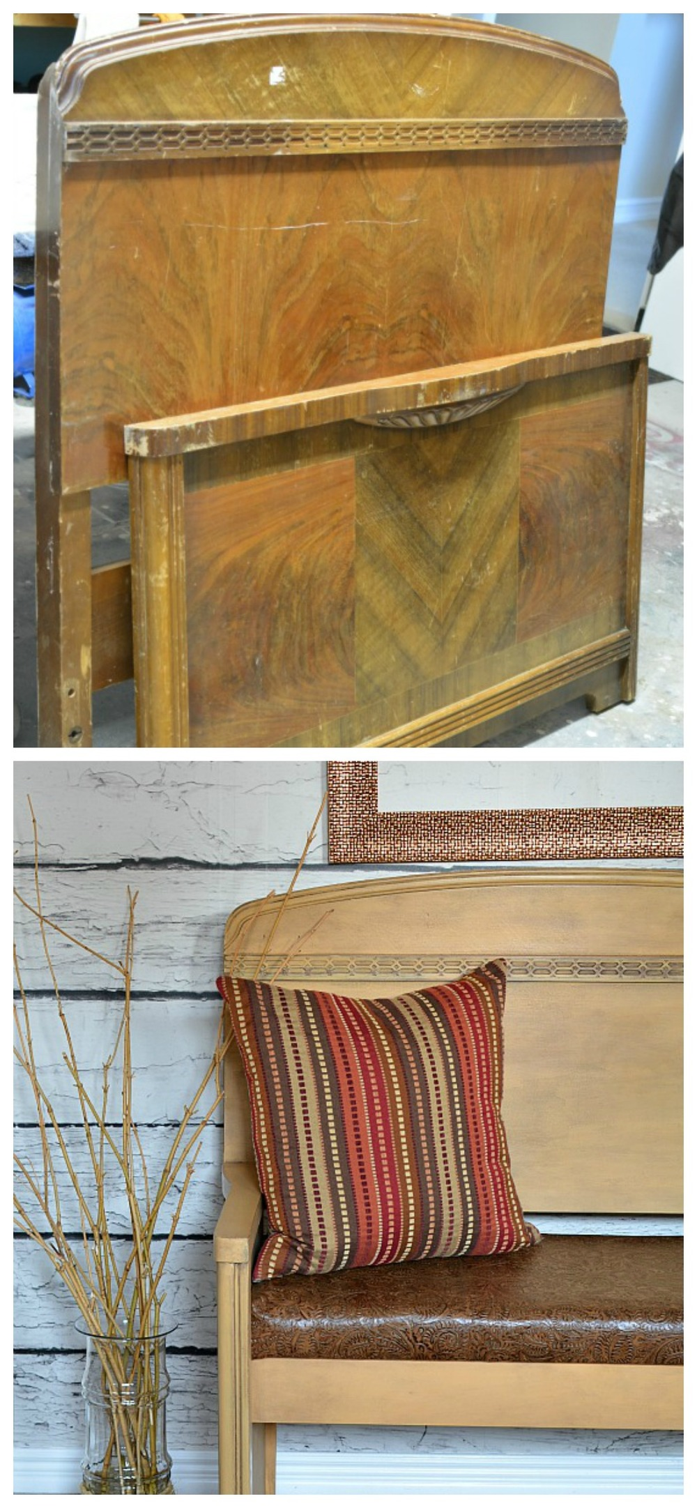 Headboard to leather bench Collage.jpg