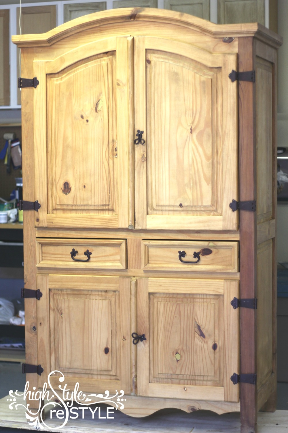 Rustic Armoire Makeover Highstyle Restyle