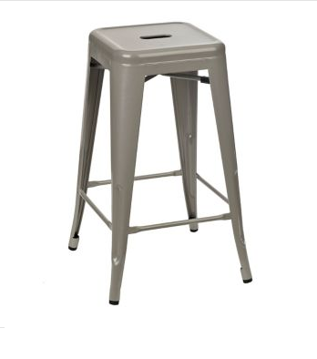 How To Turn A Bar Stool Into An Industrial Side Table