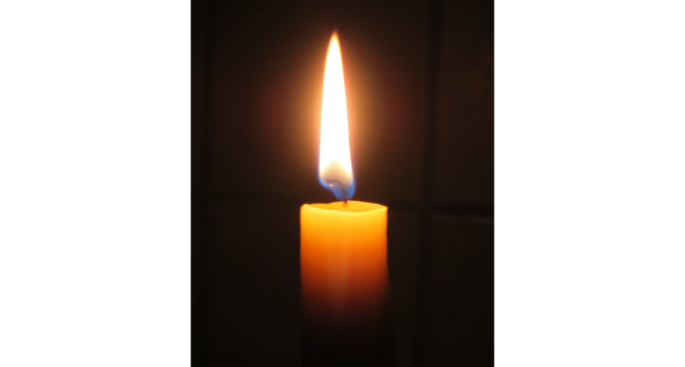Bright Candle Glowing