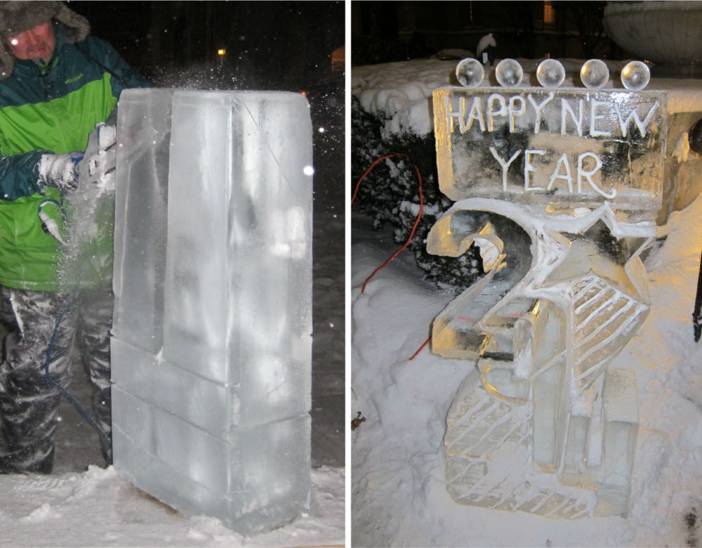 Carving Ice Sculptures for 2014