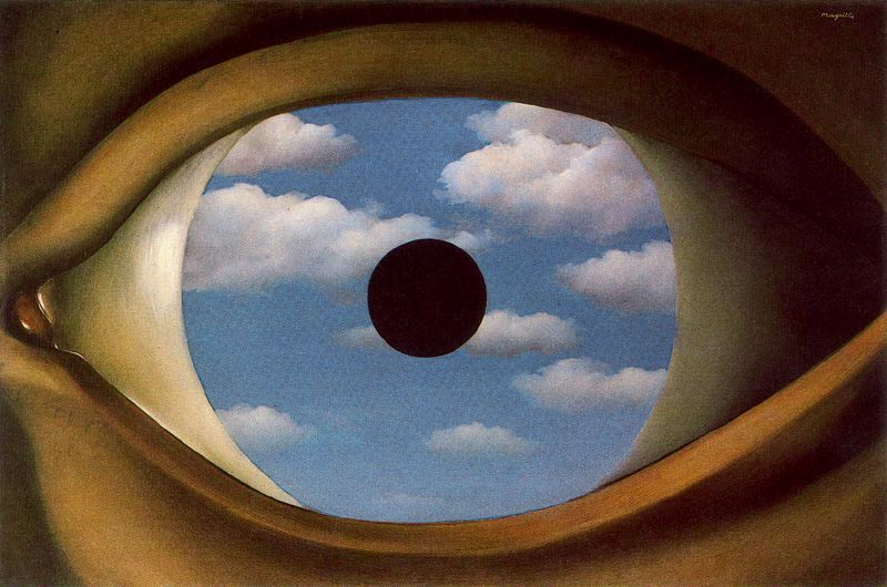 The False Mirror by René Magritte, 1928