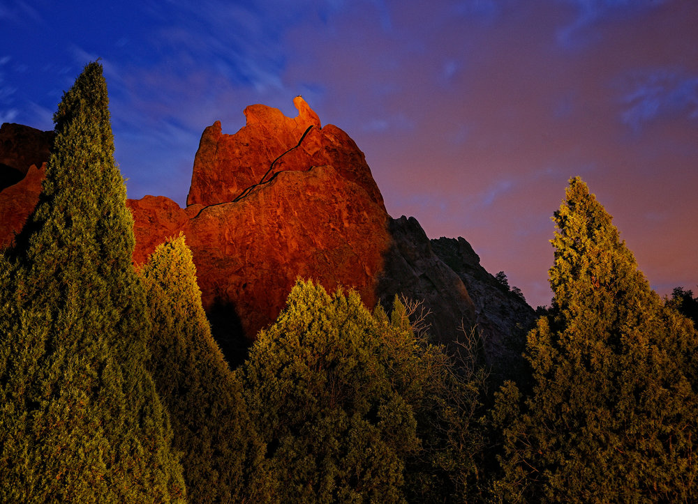 ©Doug Bennett Photography - Garden of the Gods Night