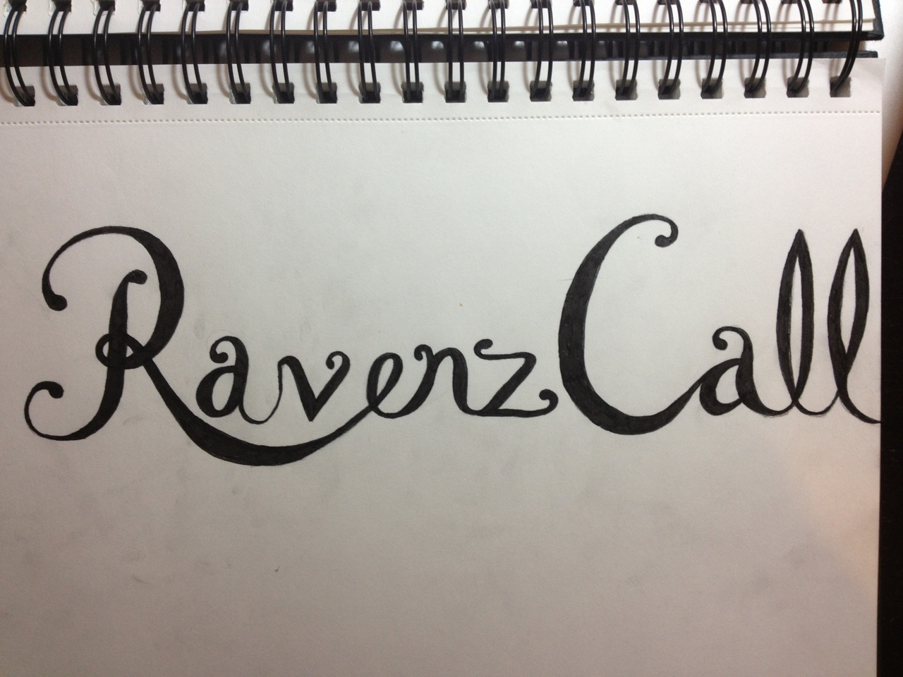 Some hand-lettering for a client. First draft.