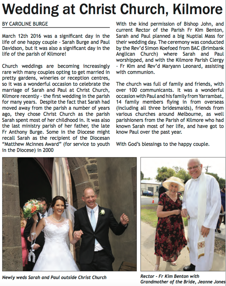 May 2016 ~ Anglican Advocate