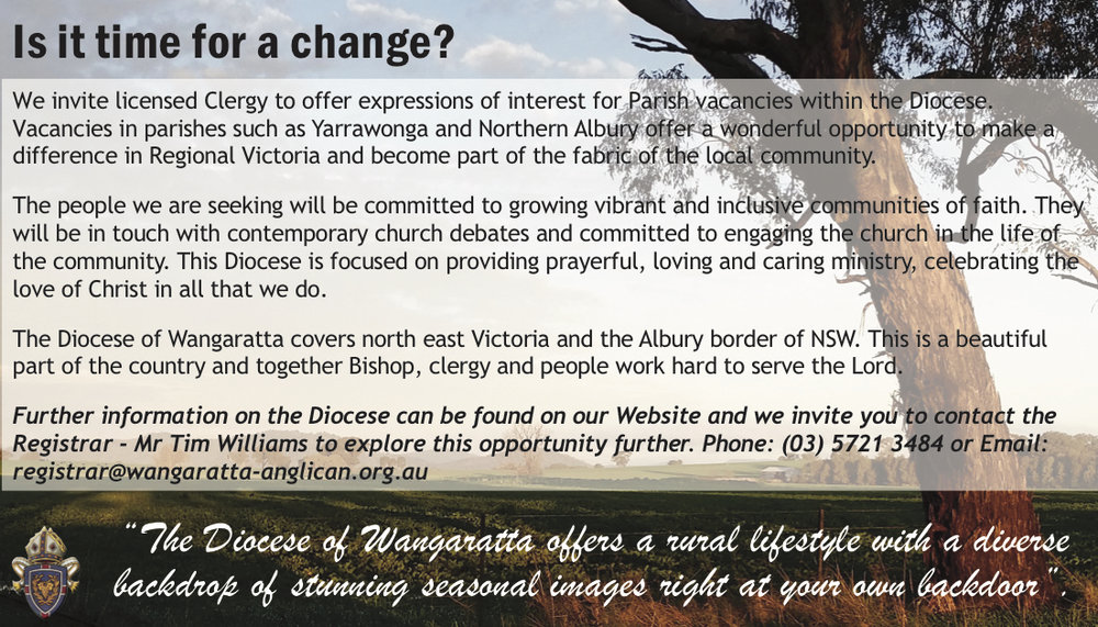 Diocese of Wangaratta Clergy Ad