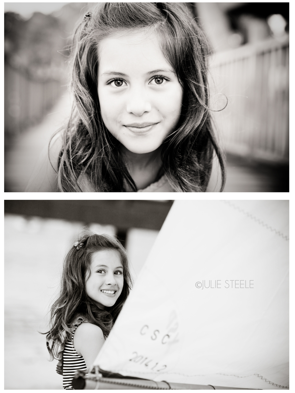 black and white photograph, girl 10 yrs old