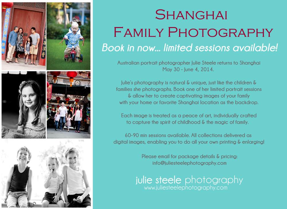 Shanhgahi family portraits with Australian photographer Julie Steele