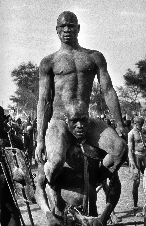 The champion of a Korongo Nuba wrestling match, Kordofan, Southern Sudan 1949