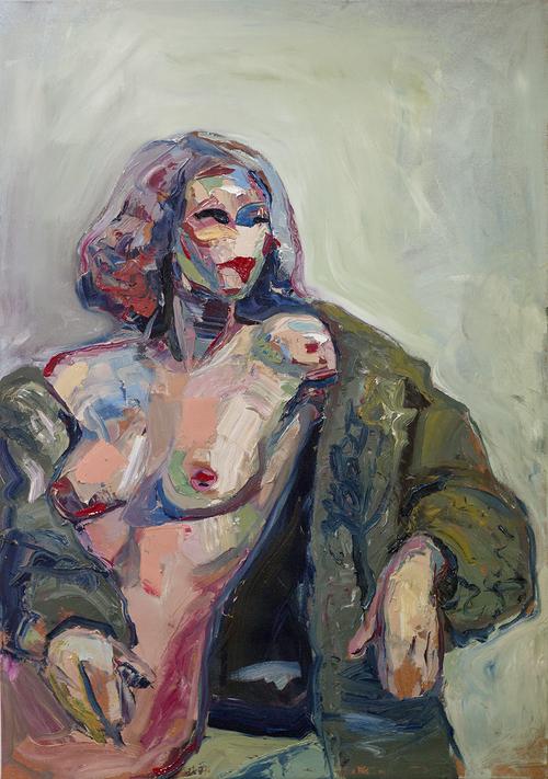 """""""MERK #2"""" 70 x 100 cm - Olje på lerret """"MERK #2""""70 x 100 cm - Oil on canvas NOK 10.000,-(+5% Kunstneravgift)"""