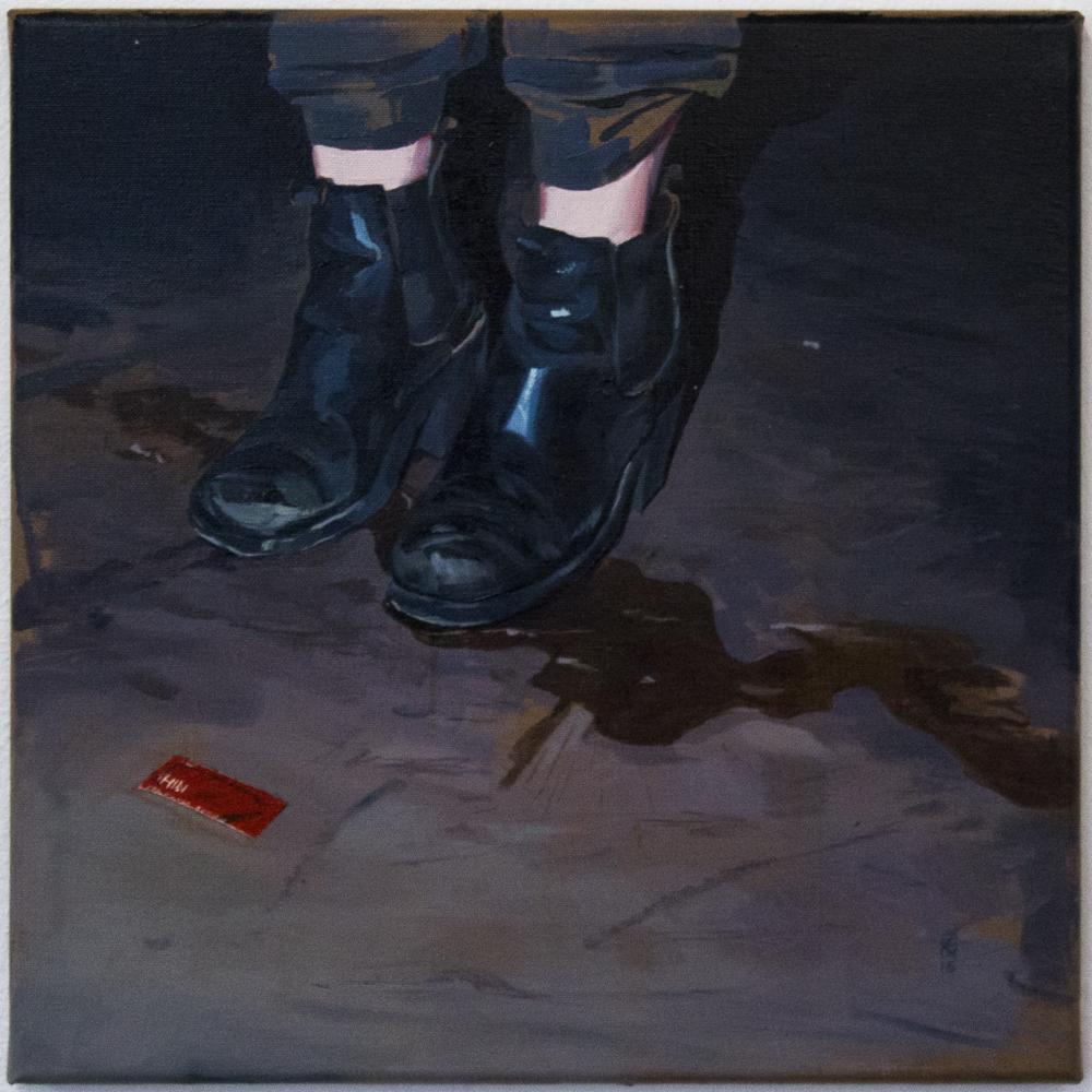 """""""For extra feeling"""" 40 x 40 cm - Olje på lerret """"For extra feeling"""" 40 x 40 cm - Oil on canvas NOK 4000,-(+5% Kunstneravgift)"""