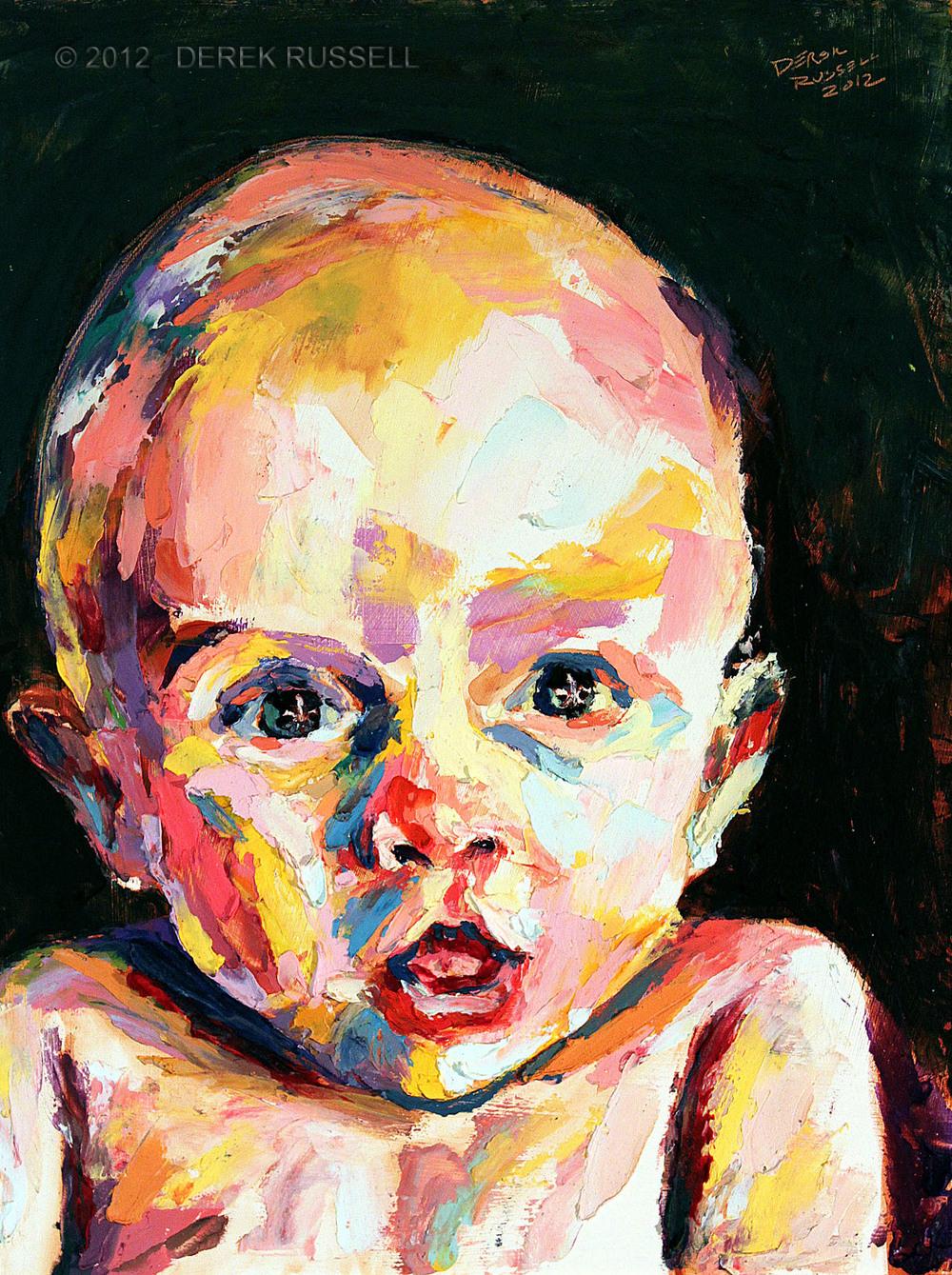 Custom Original Baby Portrait