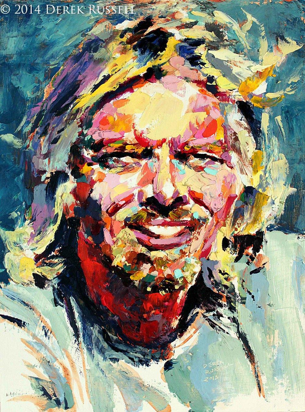 Original Fine Art Oil Portrait Painting by portrait & nature fine artist Derek Russell